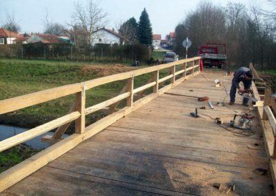 Most - izrada drvenog mosta (1)