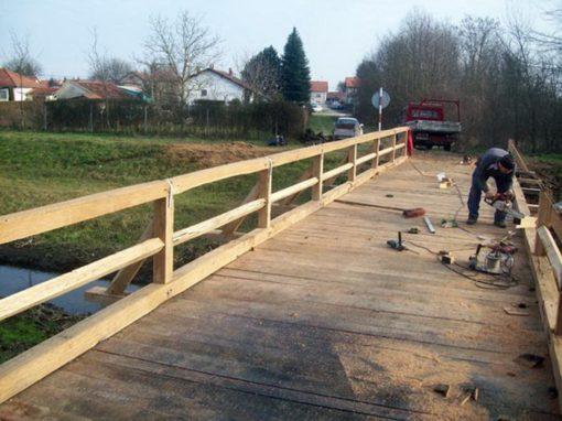 Most – izrada drvenog mosta
