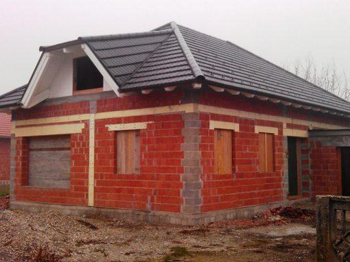Kuće u izgradnji – izrada krovišta